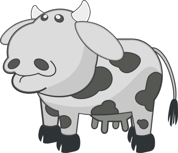 banner library stock Cow Animal Cartoon Clip Art at Clker