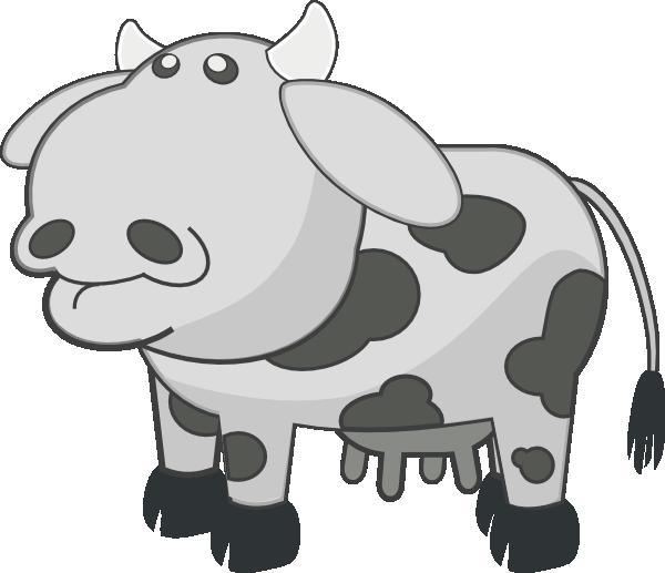 banner Cow animal cartoon clip. Cattle clipart sad.