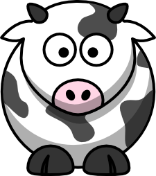 free library Clip art cow cool. Cattle clipart sad.