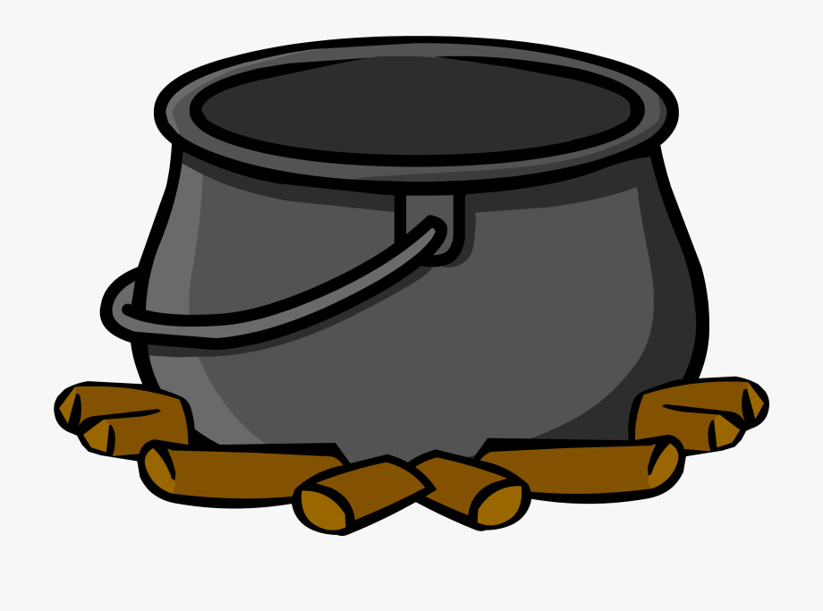 banner black and white library Picture empty free . Cauldron clipart