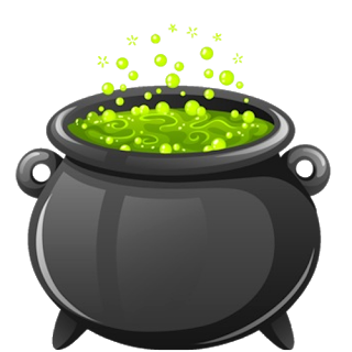 banner black and white download Cauldron clipart. Witchcraft witch s free.