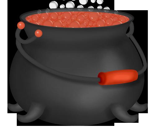 jpg free Cauldron clipart. Halloween orange witch.