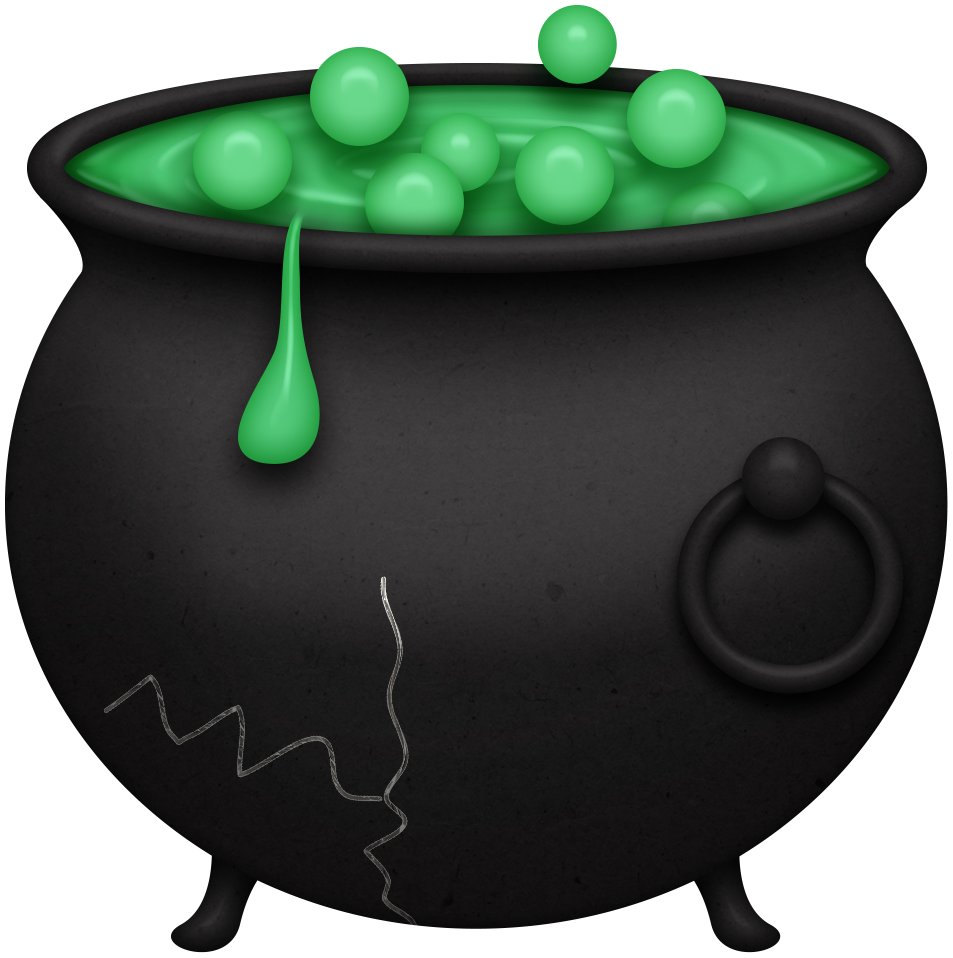 banner black and white stock Cauldron clipart. Halloween boo witches ghosts