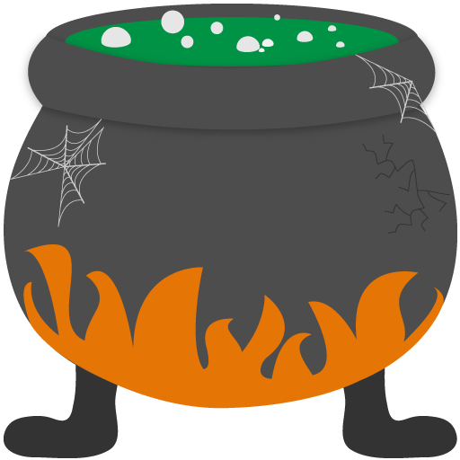 banner library Witch Cauldron Icon