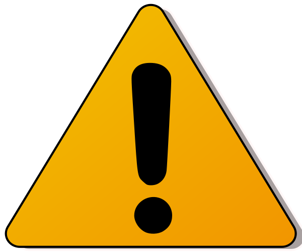 royalty free Warning . Caution clipart.