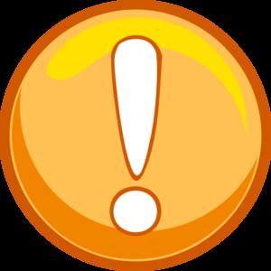 png download Orange icon clip art. Caution clipart