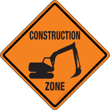 picture black and white stock Printable construction signs pictures. Danger clipart road work sign.