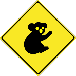 banner free download Warning koalas clip art. Caution clipart ahead.