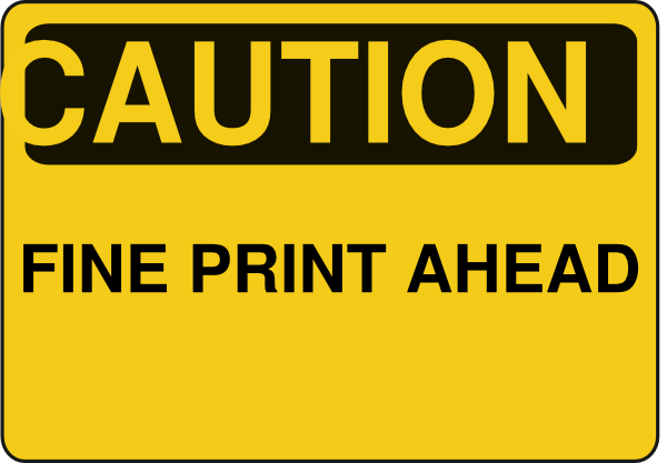 svg royalty free stock Caution clipart ahead. Fine print clip art.