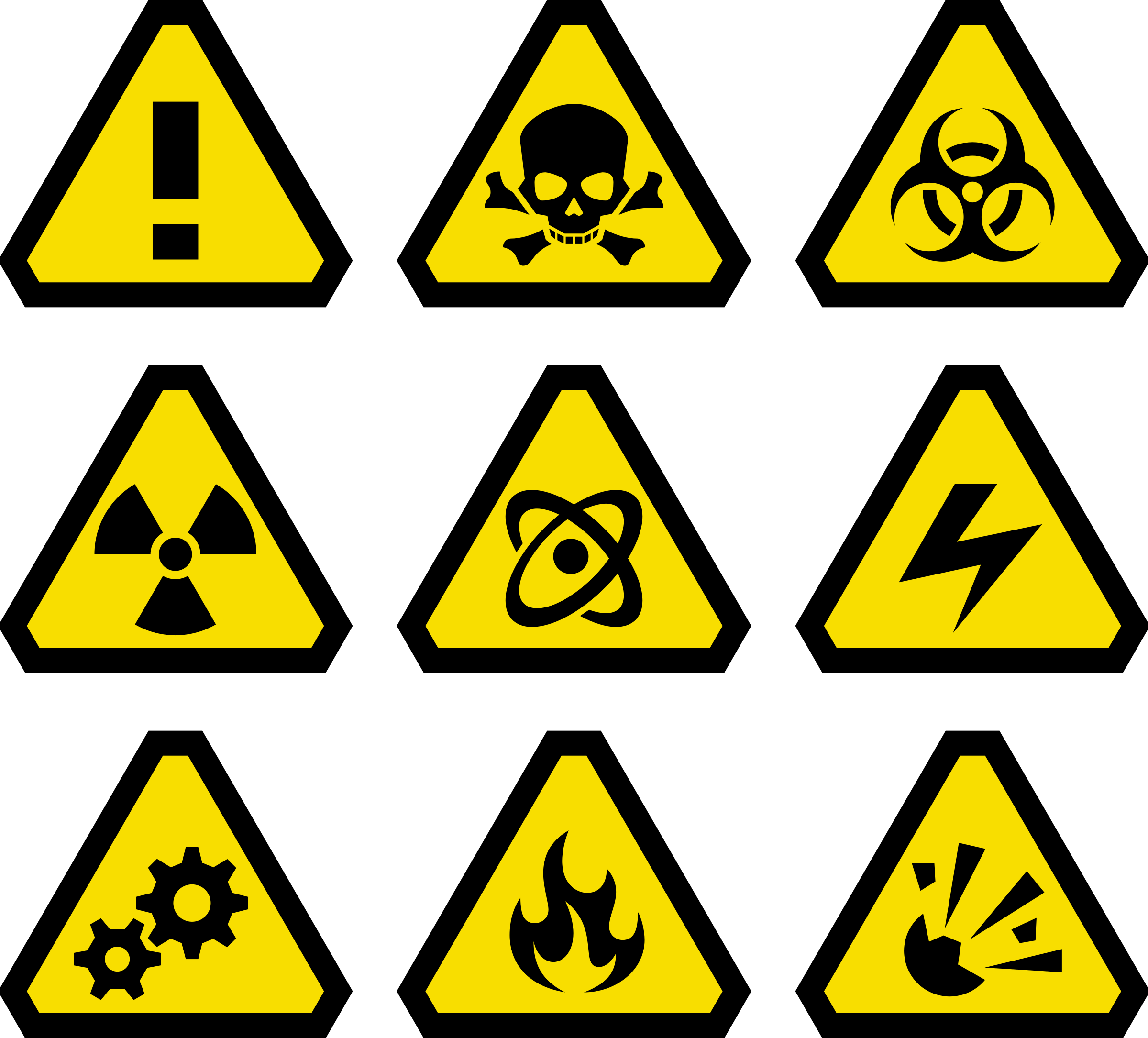 svg black and white library Warning Signs by