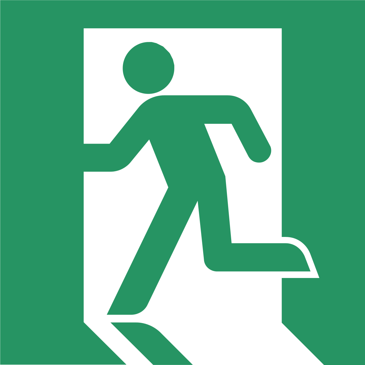image freeuse Walking out the door clipart. Exit sign wikipedia .