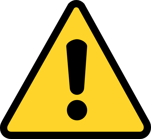 svg freeuse stock Warning Icon Clip Art at Clker