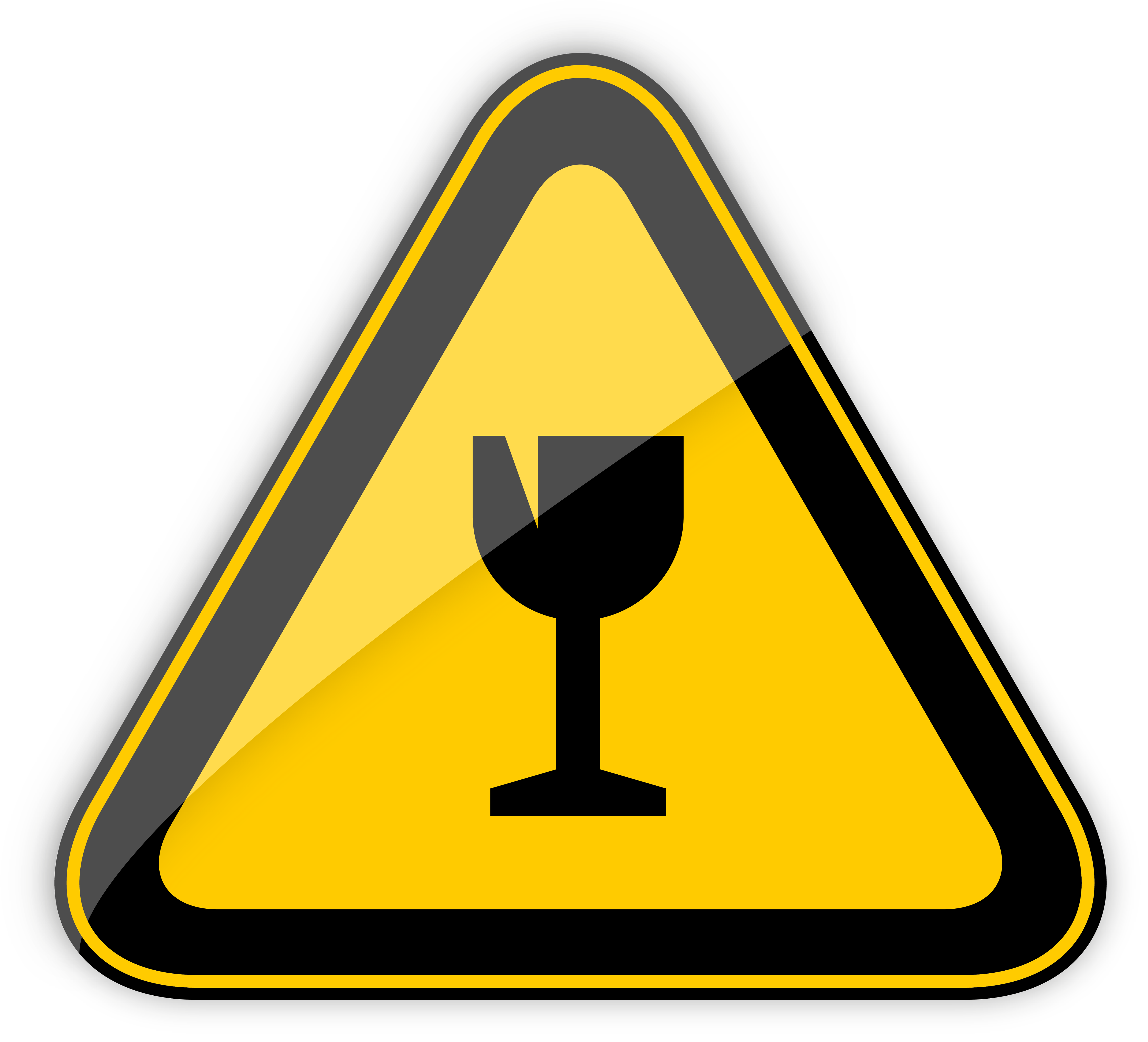 transparent stock Fragile sign png best. Caution clipart warning light