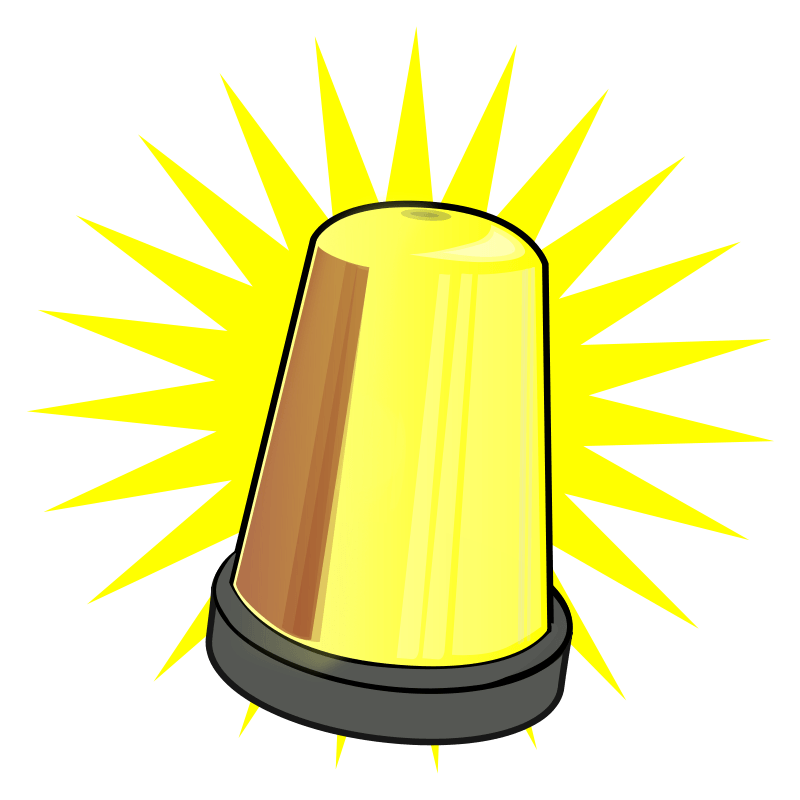picture black and white stock Caution clipart warning light. Cliparts zone