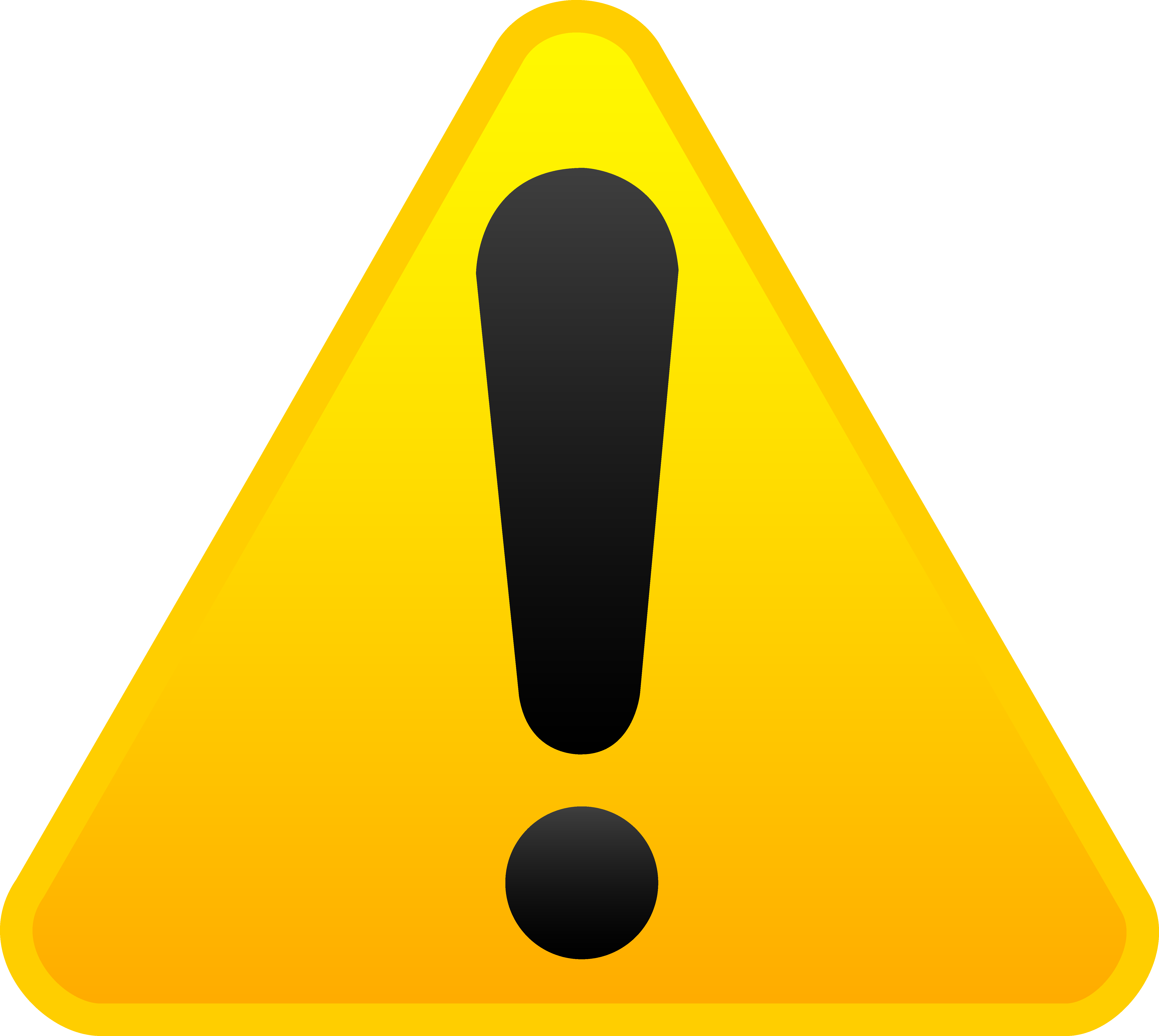 clipart black and white stock Free triangle symbol download. Caution clipart warning light