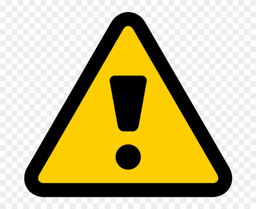 png black and white Caution clipart warning light. Triangle sign pinclipart