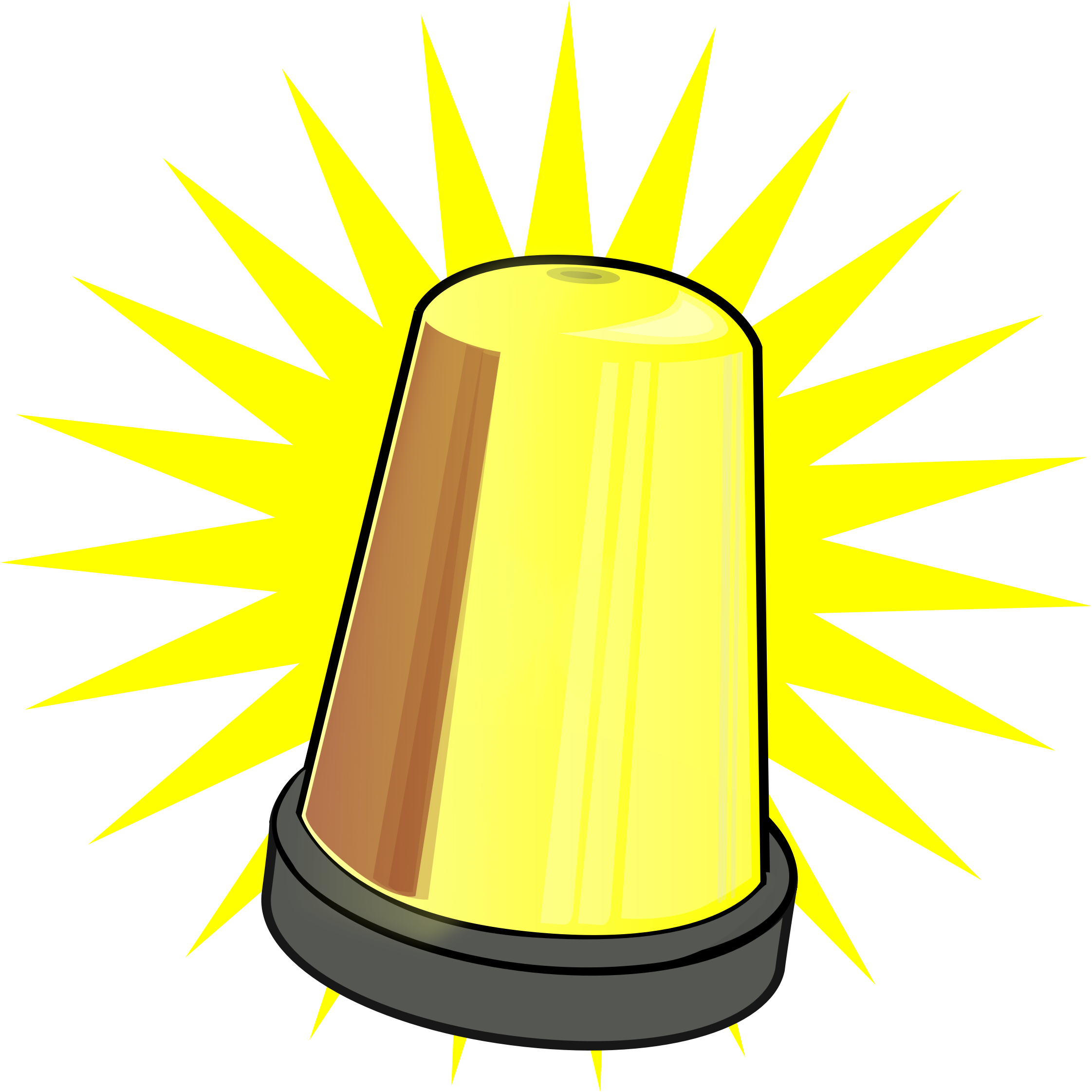 clip art library stock Caution clipart warning light.  beauty yellow signal