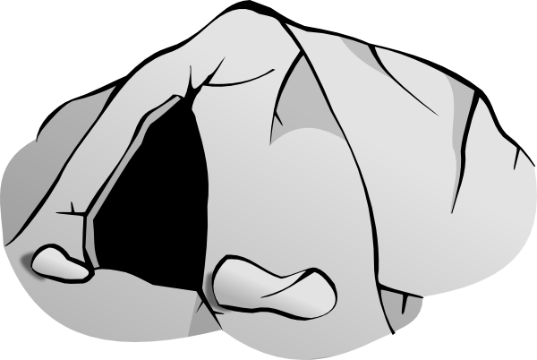 vector library library Bear Cave Clipart