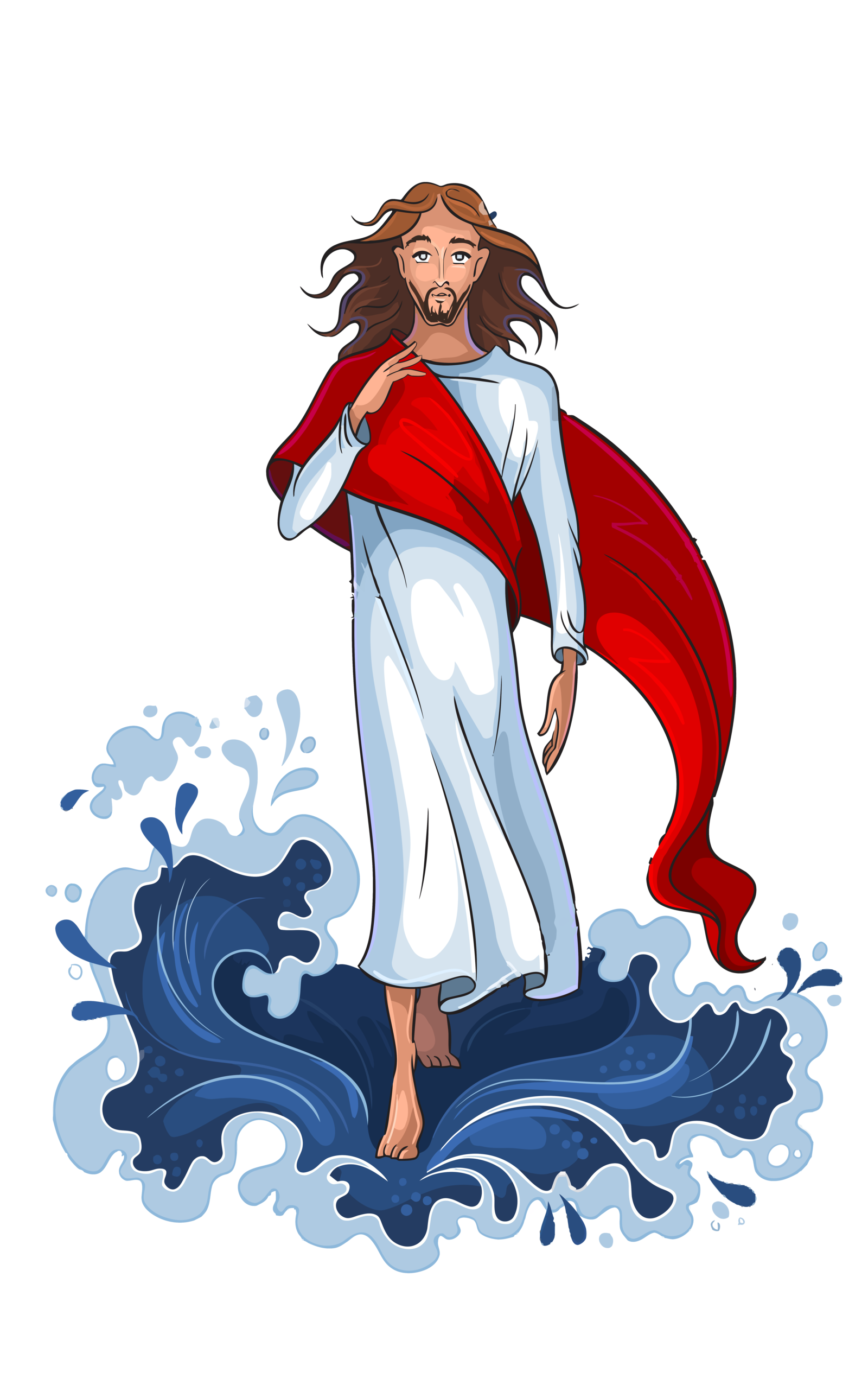 vector freeuse stock Jesus walking on water clipart. Image result for vector