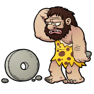 black and white library Invents the wheel png. Caveman clipart.