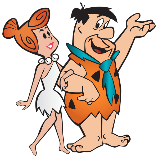 clip royalty free download Fred and wilma flintstone. Caveman clipart family.