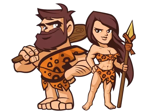 clipart freeuse download What would happen if. Caveman clipart female.