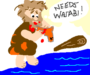 clip art freeuse stock A bear called grylls. Caveman clipart fishing.