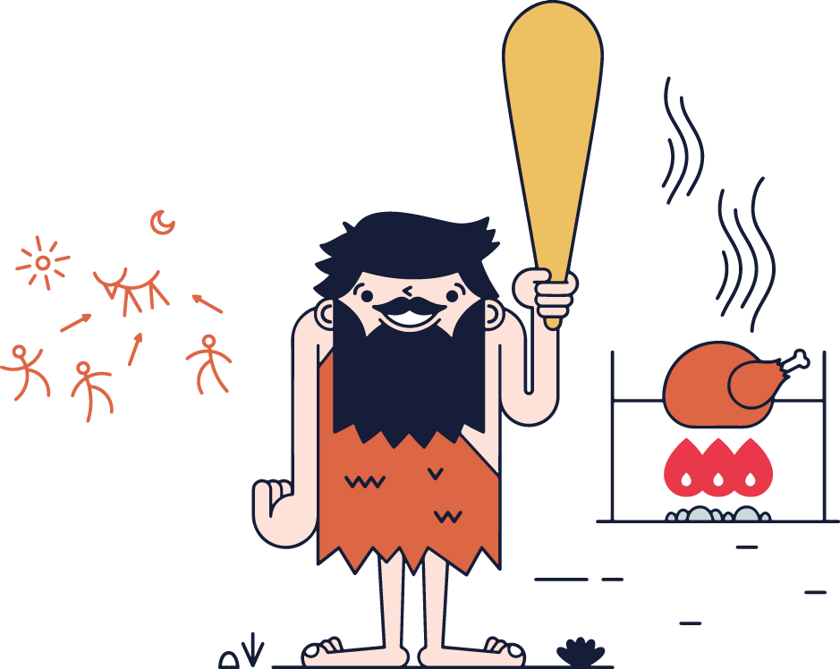 clipart freeuse stock Illustration original neanderthals and. Caveman clipart neanderthal.