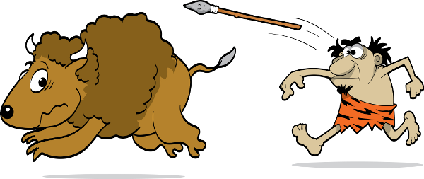 svg freeuse Cuisine introducing paleoque now. Caveman clipart neanderthal.