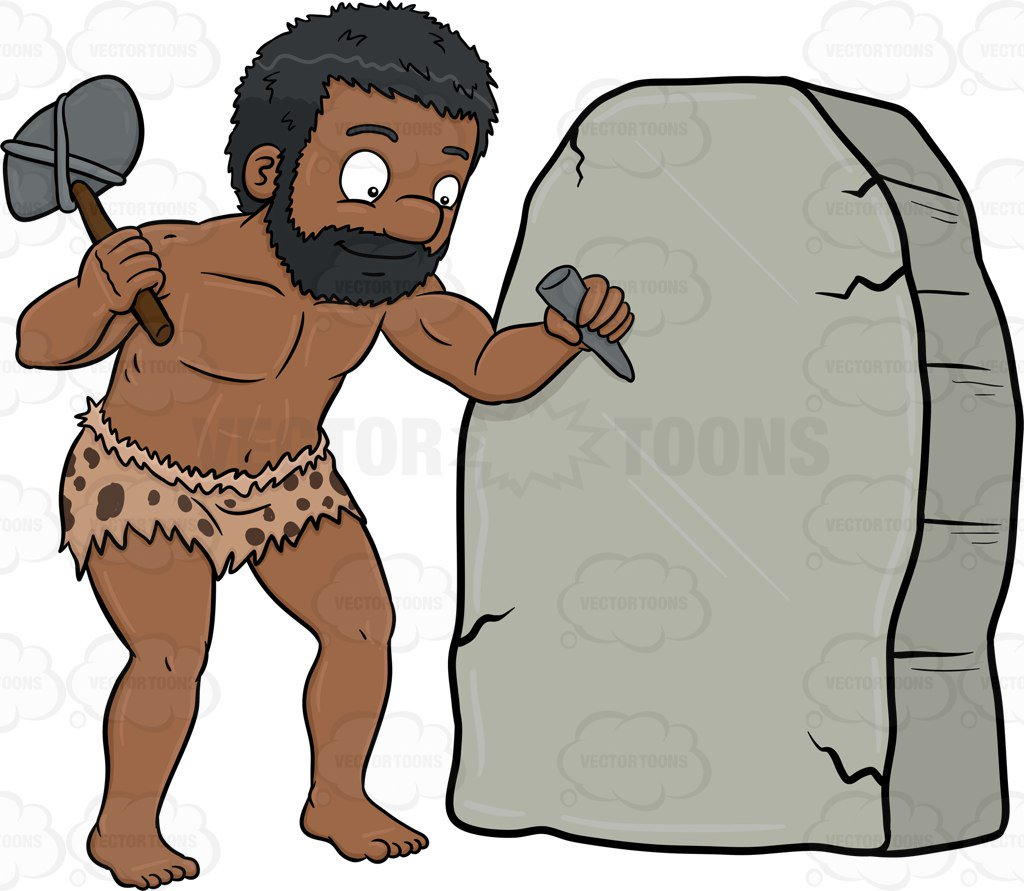 banner royalty free Cavemen free download best. Caveman clipart rock.