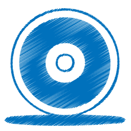 graphic royalty free library Cd clipart sketch. Blue disc icon png.