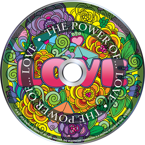 free stock POWER OF LOVE Adult Coloring Book Includes a Calming Music CD