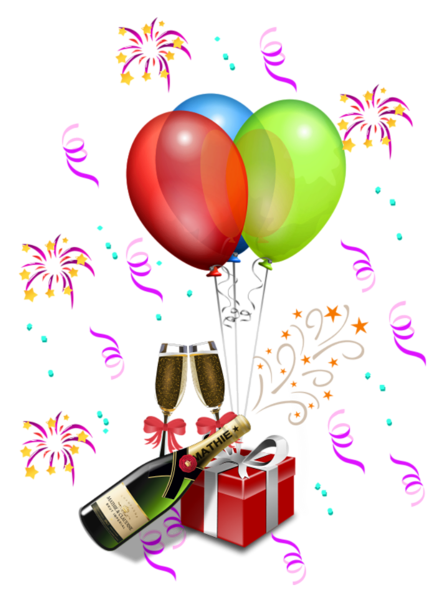 picture freeuse library Decoration transparent png balloons. Cheers clipart party.