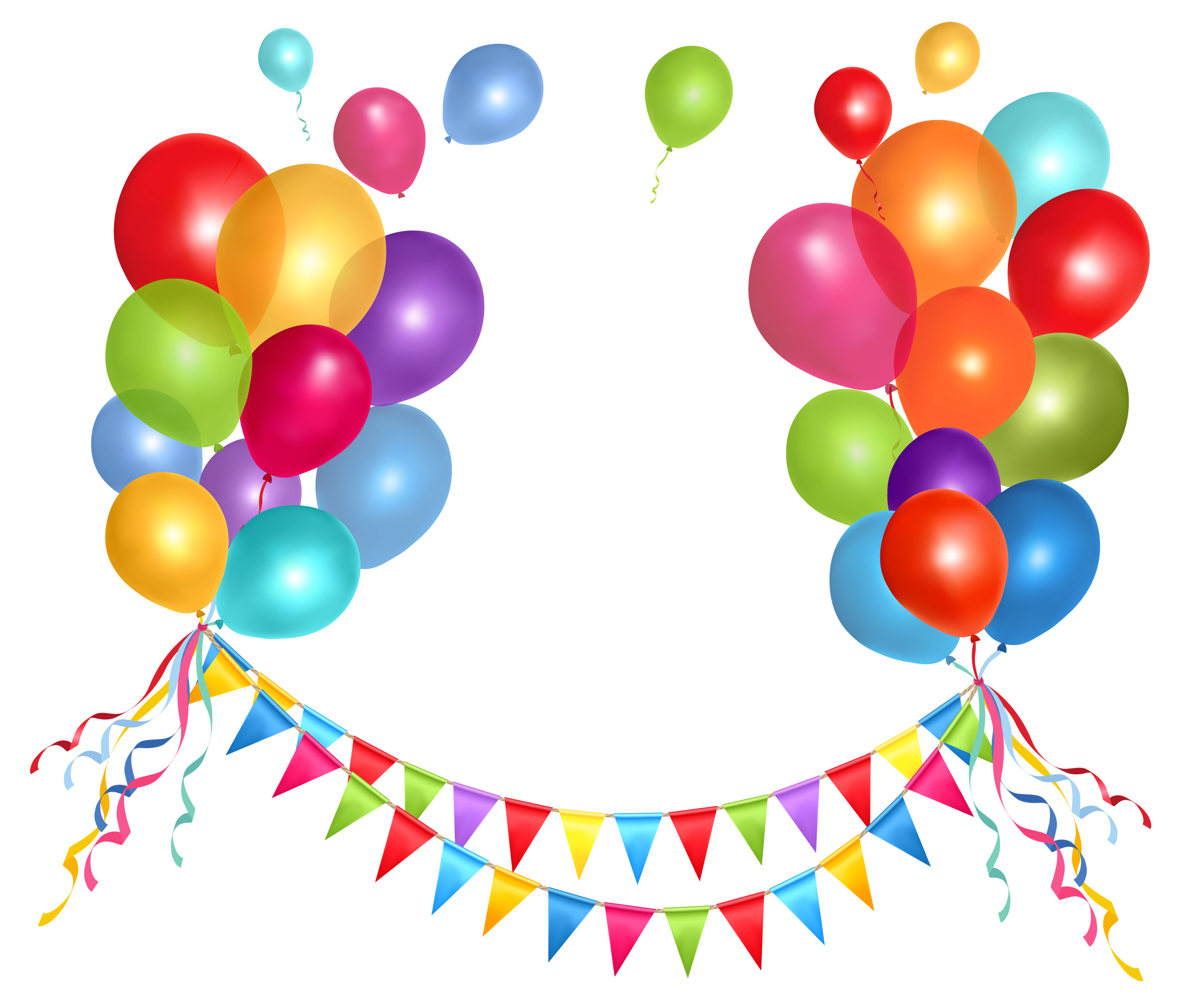 banner free download Transparent party streamer and. Celebrate clipart birthday decoration.