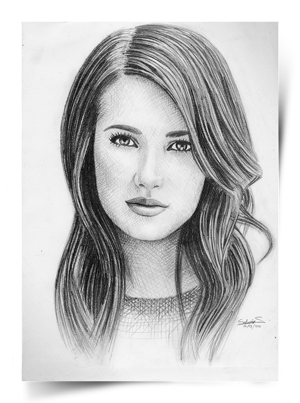 image transparent download Celebrity portraits on wacom. Drawing portrait female