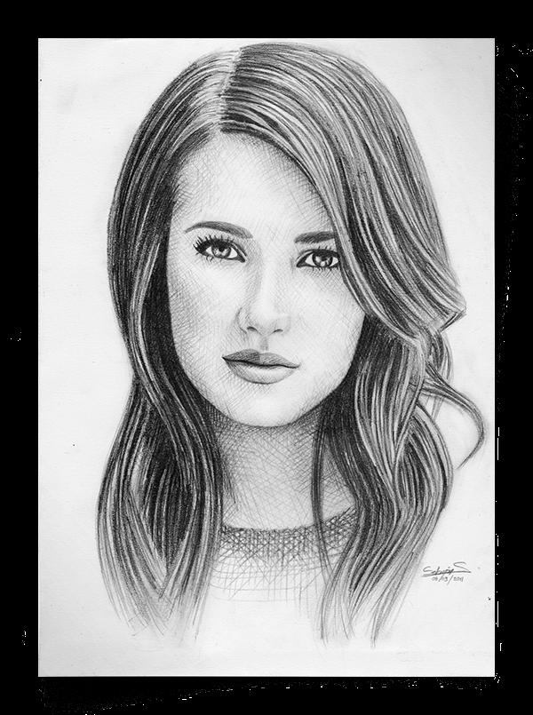 image transparent download Celebrity portraits on wacom. Drawing portrait female