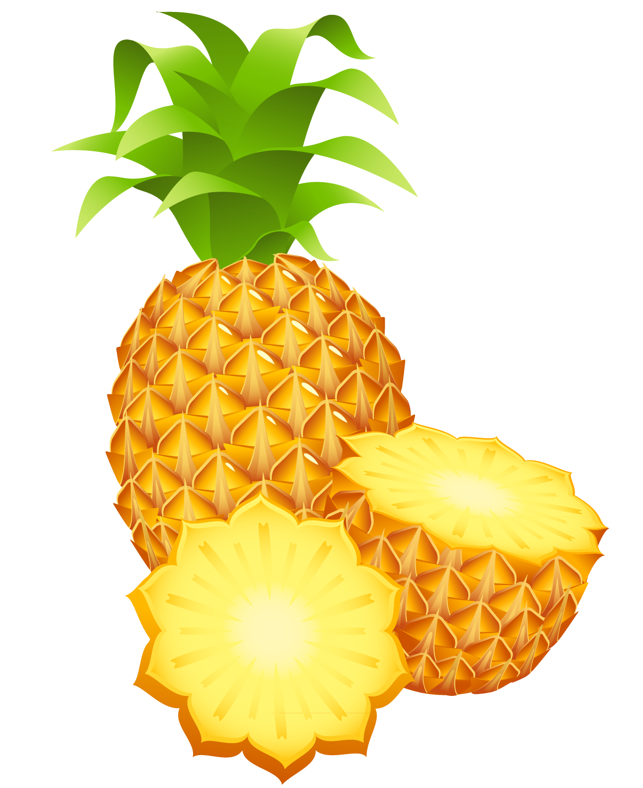 clip art free Large painted pineapple png. Celery clipart watercolor.