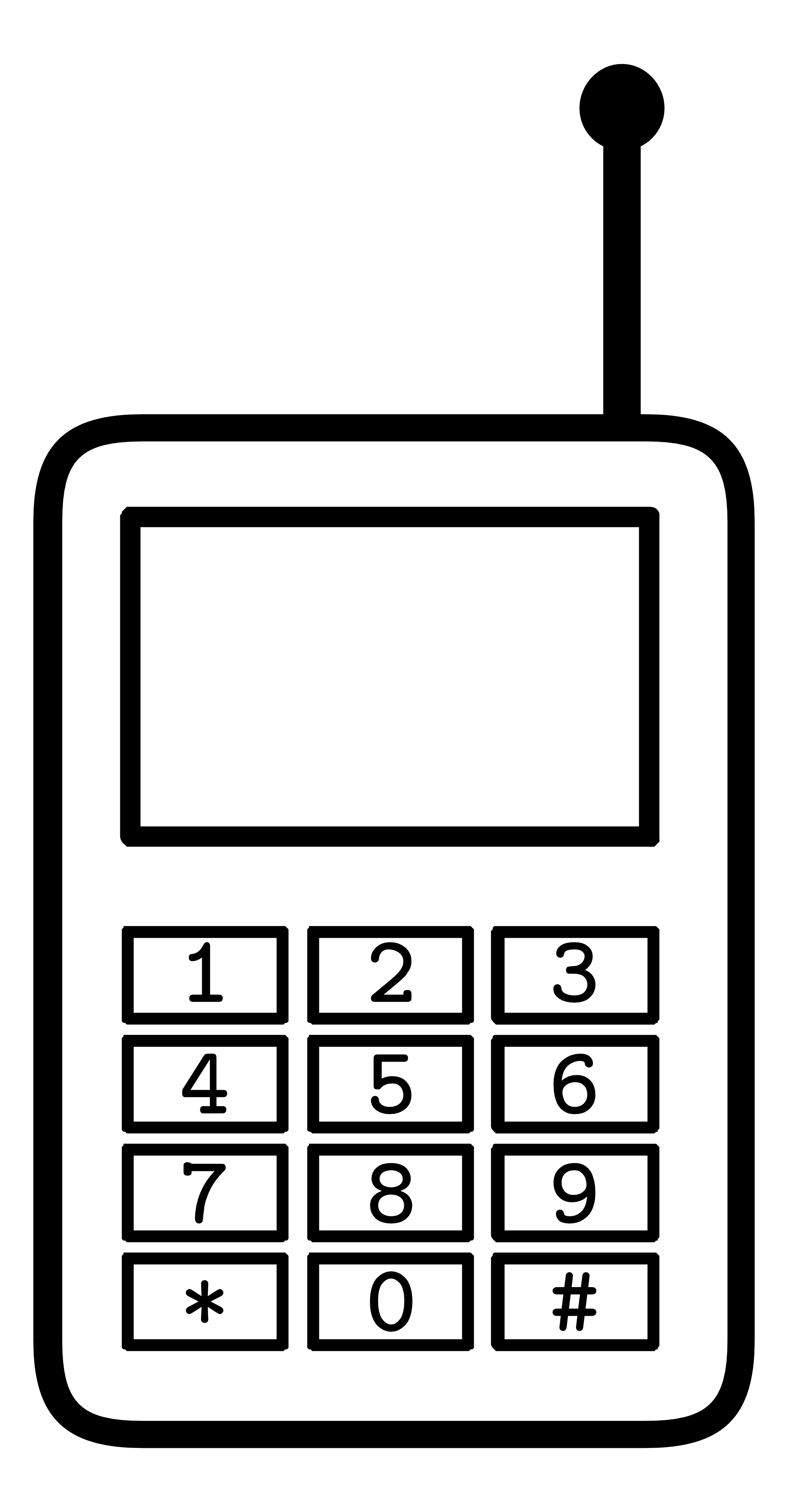 png black and white stock Mobile clipart simple phone. Cell black and white.