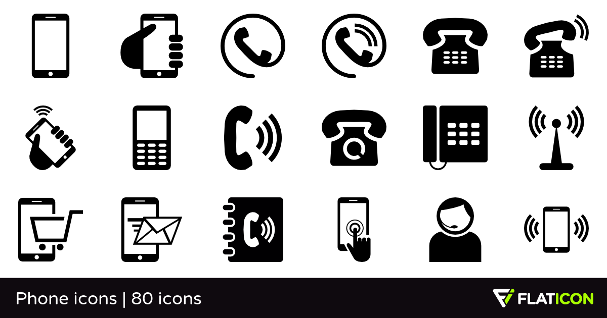 picture black and white library Phone icons free eps. Vector svg