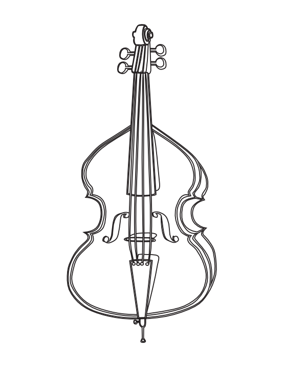 vector freeuse stock Drawing outline at getdrawings. Cello clipart