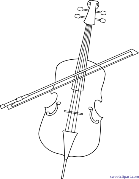 svg free library Cello clipart. Sweet clip art page.