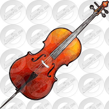 stock Picture for classroom therapy. Cello clipart
