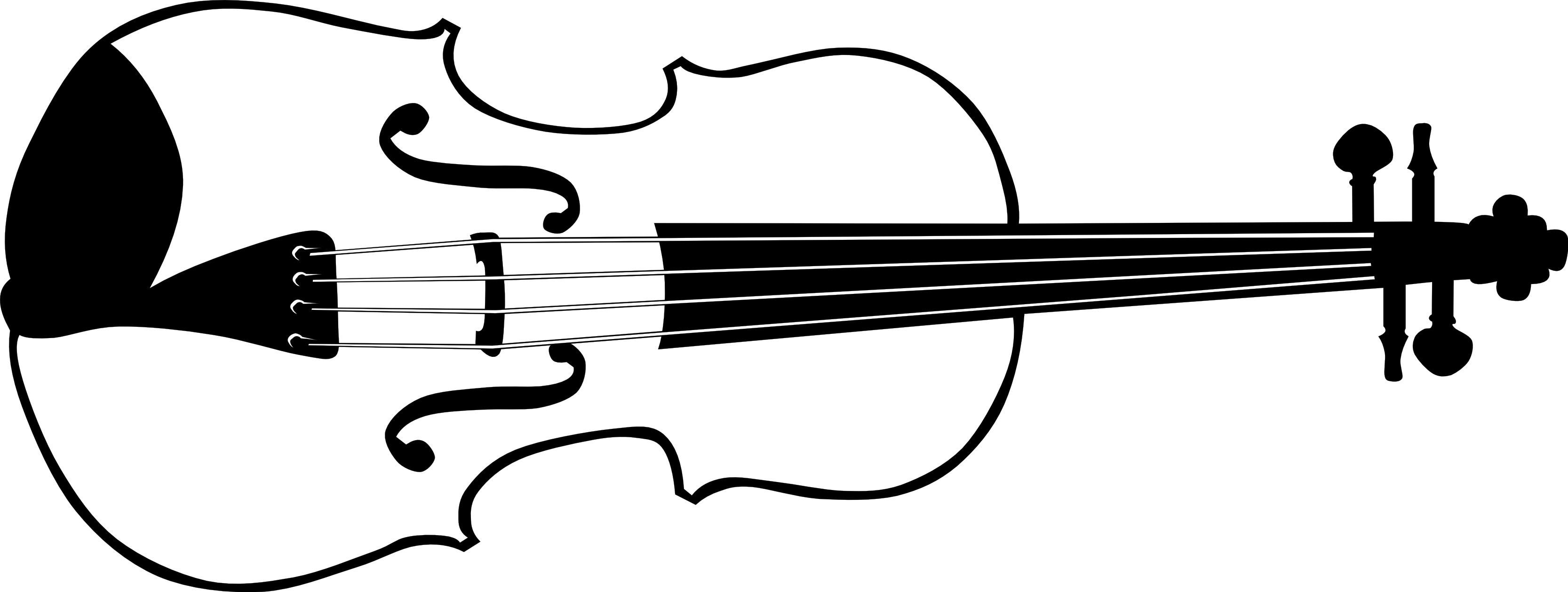 picture freeuse library Musical instruments clipart black and white. Violin images clip art