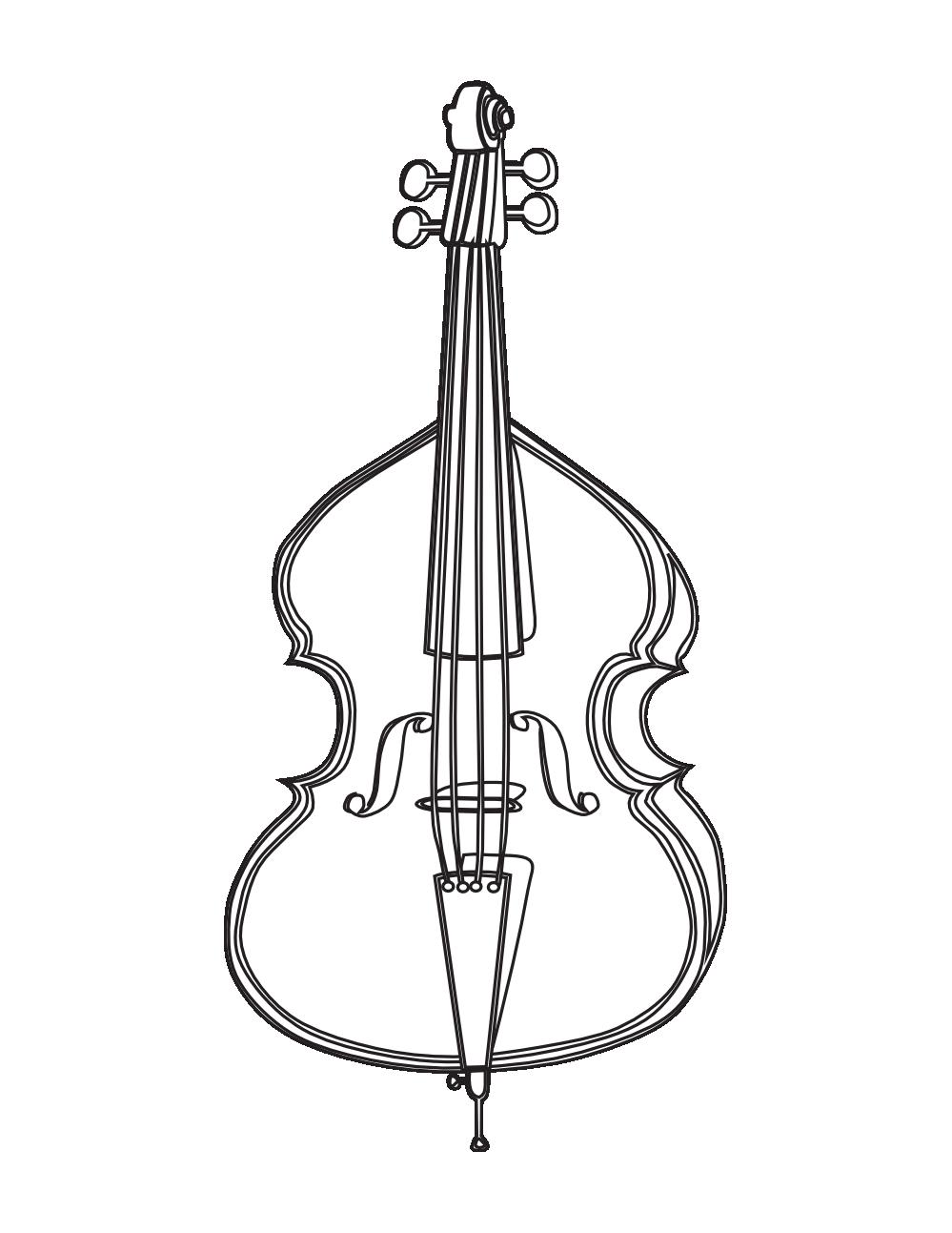 graphic library download . Cello clipart black and white.