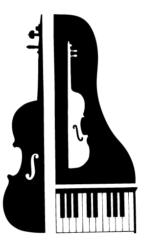 picture stock Musical keyboard clipart. Cello with piano cartoon