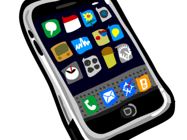 graphic black and white library Cellphone clipart. Free cell phone download