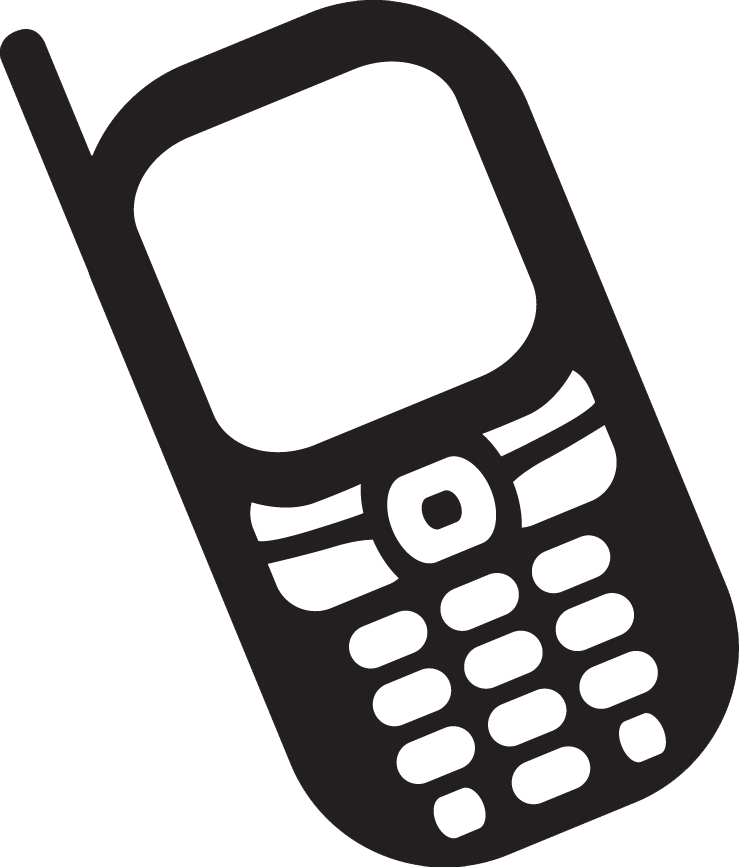 picture black and white library Mobile clipart simple phone. Electronic lifeline how cell.