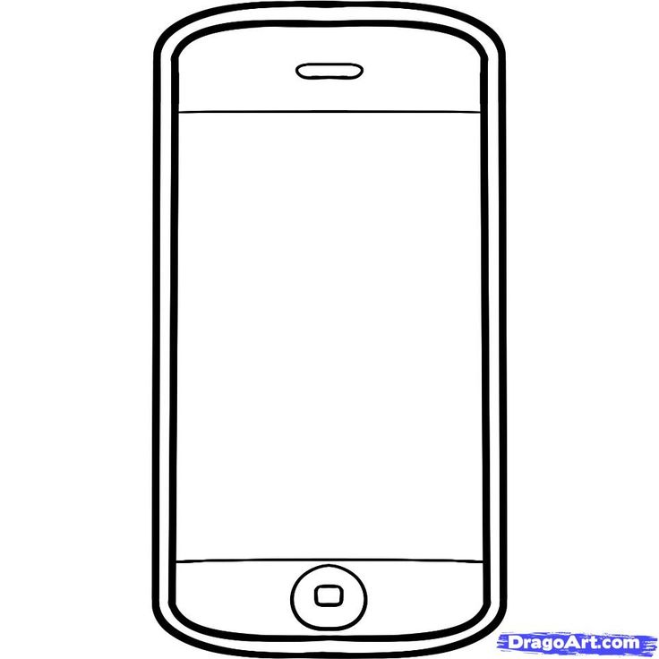 graphic free stock Cellphone drawing. Clipart transparent
