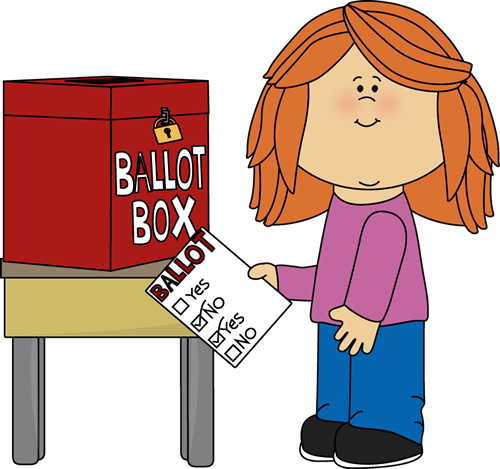 svg freeuse library Voting clip art from. Writer clipart morning work