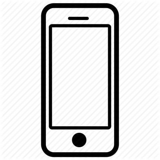 svg freeuse Cellphone clipart mobile calling. No cell phone black